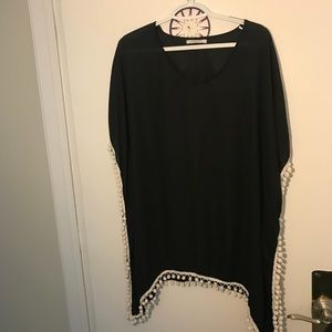 Black tunic cover up